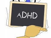 Illustration: Doctor Shows Information: Adhd