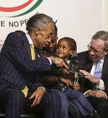 Al Sharpton with Akaila Gurley & Scott Stringer