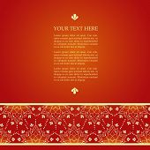 Red Henna Lotus Background