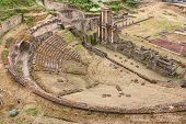 Antique Roman Theater In Volterra, Tuscany, Italy