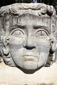 stock photo of medusa  - Head of stone medusa in Istanbul Turkey - JPG