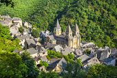 Conques medieval village and abbey Saint Foy, France