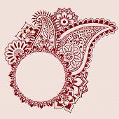 Indian henna design banner
