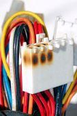 Damaged Power Line Socket