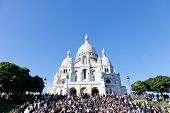 Sacre Coeur Basilica in summer day.