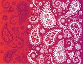 Pink Indian paisley background