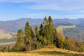 foto of pieniny  - autumn mountain landscape, Pieniny mountains in Poland ** Note: Soft Focus at 100%, best at smaller sizes - JPG