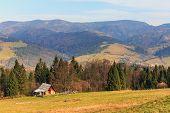 image of pieniny  - autumn mountain landscape - JPG