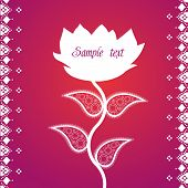 Pink Paisley Lotus