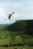 stock photo of sky diving  - jumping - JPG