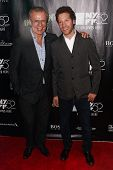 NEW YORK-OCT 4:Former ice hockey player Viacheslav Fetisov (L) & director Gabe Polsky attend 'Inherent Vice' premiere at New York Film Festival at Alice Tully Hall on October 4, 2014 in New York City.