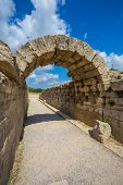 ruins in Ancient Olympia, Elis, Greece