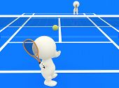 3D People Playing Tennis