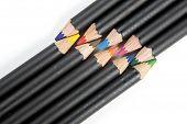 Coloring Pencils Interlaced.