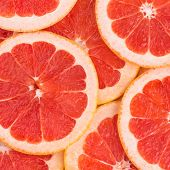 background of grapefruit slices