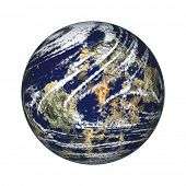 Earth Globe On White