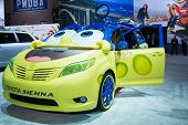 Toyota Sienna Spongebob On Display