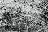 Постер, плакат: broken windshield in car accident