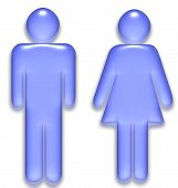 image of male female  - Male and Female symbol created as a translucent gel graphic - JPG