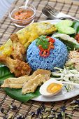 picture of nasi  - nasi kerabu - JPG