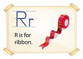 Poster of an alphabet R