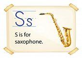 Poster of an alphabet S