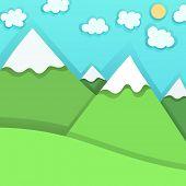 Mountain Peaks, vector illustration