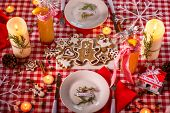 Sweet Christmas decorated table