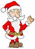 Santa Claus Nibbling A Biscuit