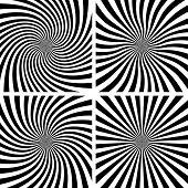 Set of Spiral backgrounds.
