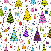 Christmas Seamless Pattern Background - Illustration