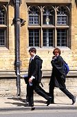 Students in academic dress, Oxford.