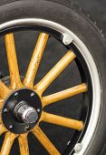 Wooden car wheel
