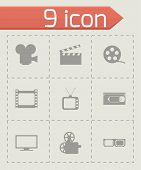 Vector movie icon set