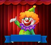 picture of circus clown  - Banner with clown 	circus theme - JPG