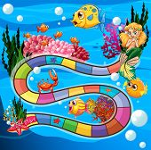 Boardgame with underwater theme and animals