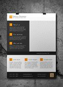 Corporate business flyer template - orange and grey