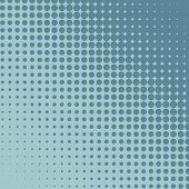 Halftone grey and blue diagonal background.