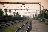 Indian railway platform