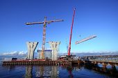 Erection Of The Towers Crane, Connecting Outer Jib To Inner Jib