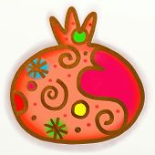 Pomegranate Paint Doodle