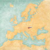 Map Of Europe - Slovakia (vintage Series)
