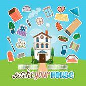 Designer  house illustration