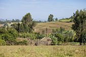 houses and farms in the mountains of Ethiopia