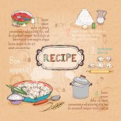 picture of recipe card  - food ingredients recipe for ravioli - JPG