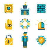 Colored Safety and Insurance Icons