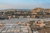 Umm Qais gadara romans ruins in Jordan