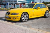 Yellow Bmw Z3 M Coupe Car Stands Parked In Manama