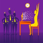 on-line earning money through e-business concept vector