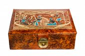 Leather Gift Box With Egyptian Ornaments